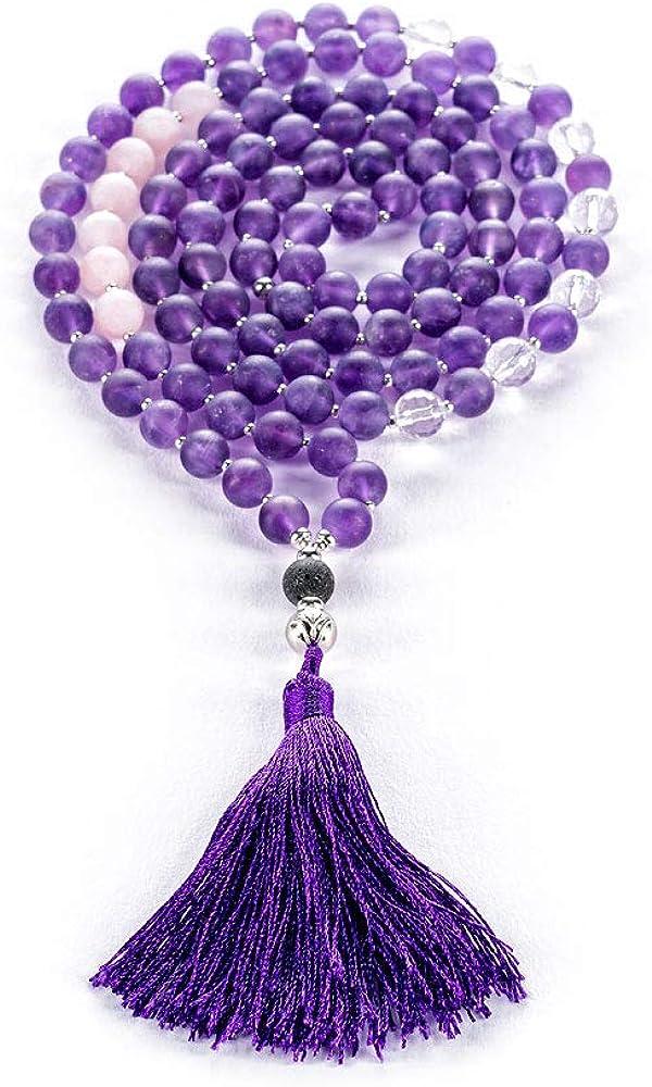 Energetic Chakra Healing Gifts for Her Hippie Purple Boho Meditation Amethyst Druzy Sterling Silver Statement Pendant Organic Stone