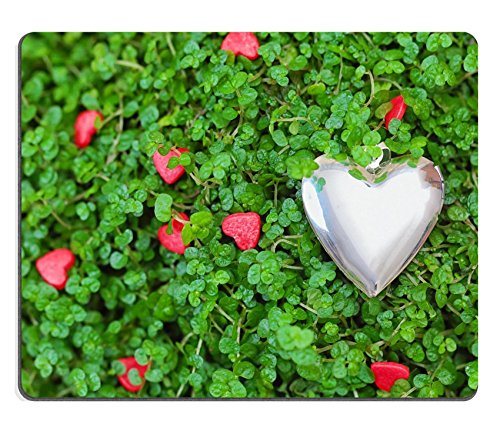 luxlady-mousepad-silver-hearts-on-the-green-grass-image-25275034