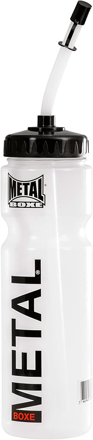 Metal Boxe MB002 - Cantimplora unisex, color blanco y transparente