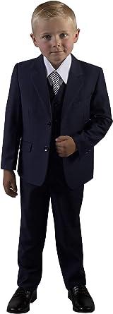 Boys Slim Fit Azul Marino Traje de niños para niños tallas