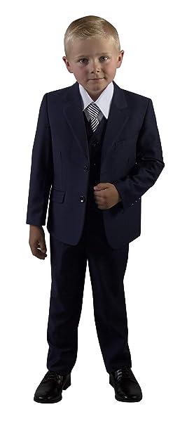 Amazon.com: tuxgear niños Slim Fit azul marino traje en ...
