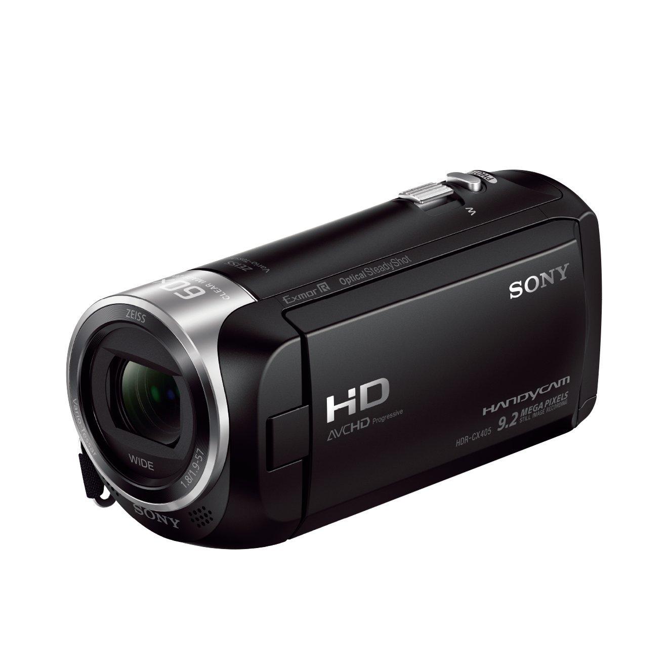 Sony HDR-CX405 Videocamera Handycam, Sensore CMOS Exmor R, 3.1 mm Retroilluminato, Obiettivo ZEISS con Zoom Ottico 30x, Nero