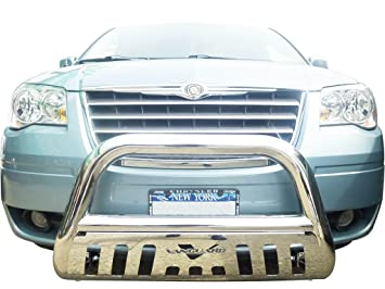 amazon com vanguard 2008 2016 dodge caravan bull bar with skid