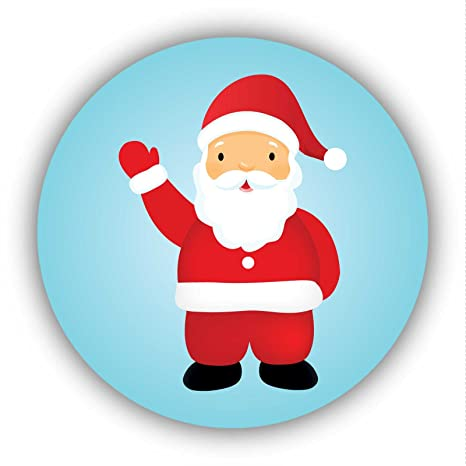 Imagenes De Papa Noel De Navidad.24 Pack 40 Mm De Papa Noel Navidad Papa Noel Pegatinas Ideal Para Decorar Tarjetas Sobres