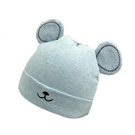 Sombrero caliente bebé niño niñas Sombrero de gorro de invierno Gorro de  felpa de orejas lindo b2129378ac9