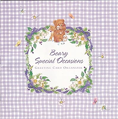 Beary Special Occasions Greeting Card Organizer Ashland Mt St