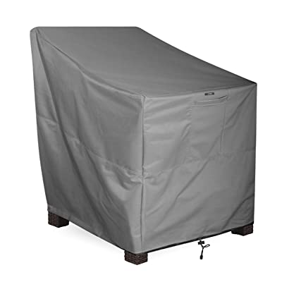 KHOMO GEAR - Titan Series - Patio Chair Cover - Heavy Duty Premium Outdoor Furniture Cover : Garden & Outdoor