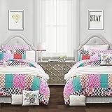 Lush Decor Multi, Full/Queen Brookdale Patchwork 7 Piece Comforter Set