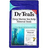 Dr Teals Pure Epsom Salt Deep Marine Sea Kelp Mineral Soak, 1.36kg