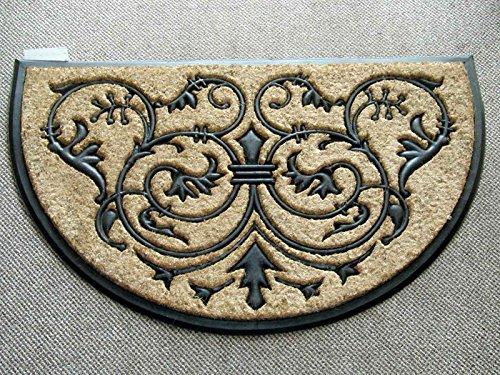 Geo Crafts Rubber Back Monarch Half Round Doormat, 24 by 39-Inch - Geo Door Mat