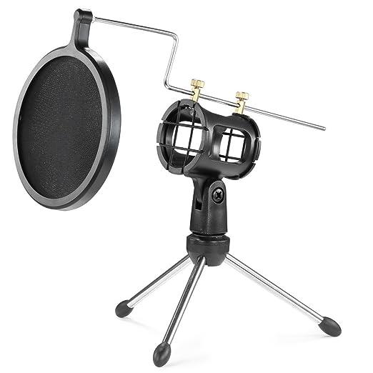 30 opinioni per Neewer Treppiede Pieghevole di Microfono da Tavolo con Supporto Antivibrazione e