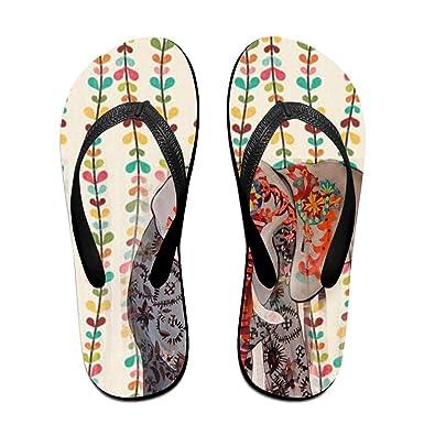 Unisex Non-slip Flip Flops Lace Elephant Cool Beach Slippers Sandal