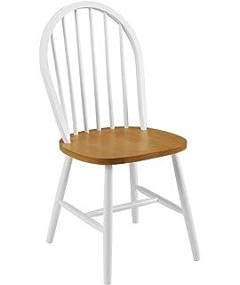 Julian Bowen Oslo Dining Chairs, White/Oak, Set Of 4