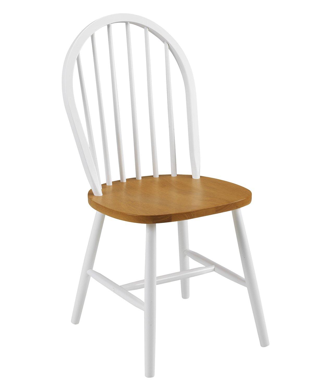 Julian Bowen Oslo Dining Chairs, White/Oak, Set of 4 OSL102