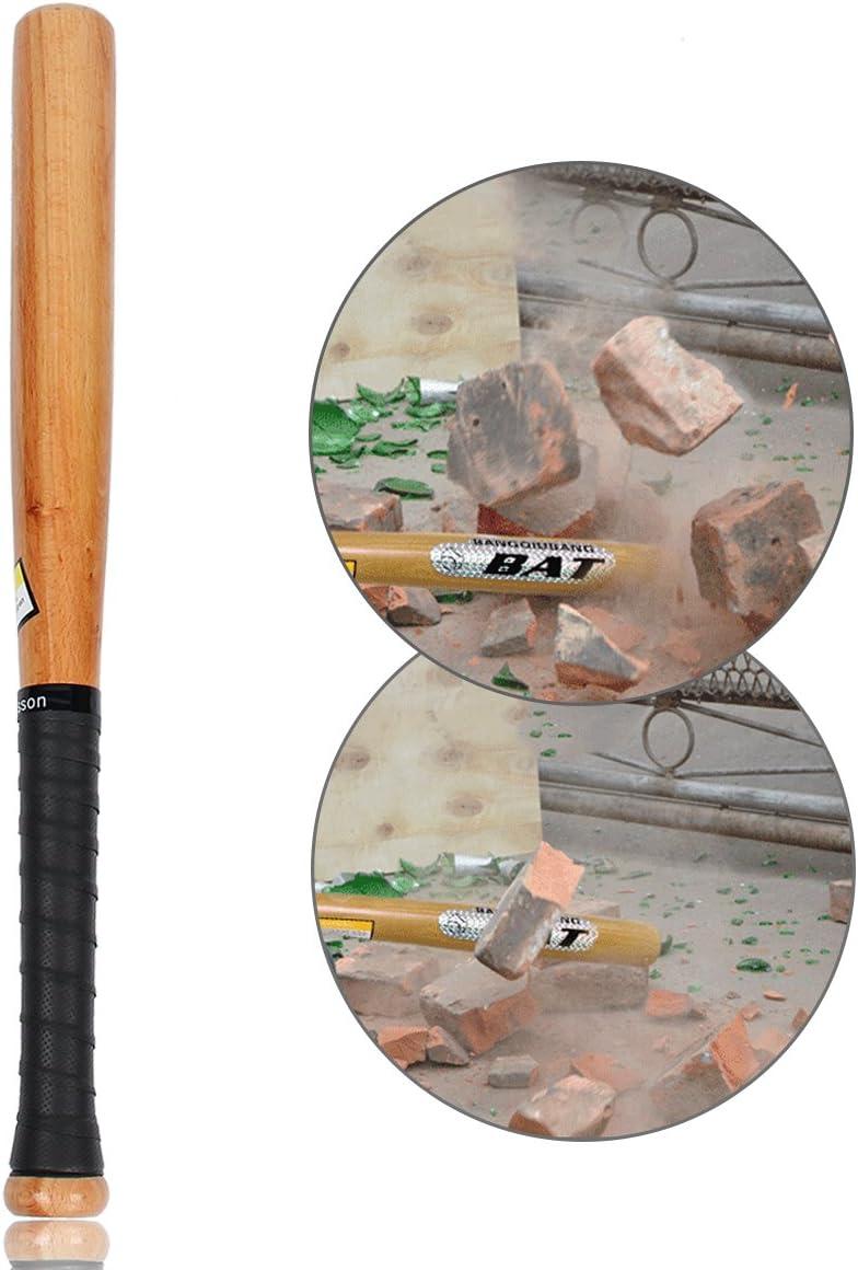 Latinaric Batte De Baseball en Bois Naturel avec Poign/ée Antid/éparante Sport 54cm 64cm 74cm 84cm