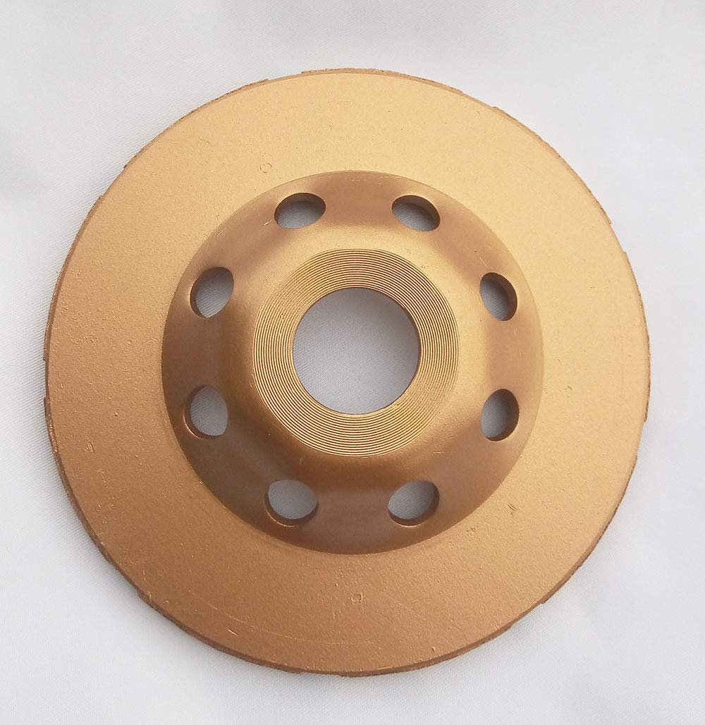 4 1//2 inch Double Row Diamond Cup Grinding Wheel for Concrete Granite,Stone Marble with 7//8 inch Arbor
