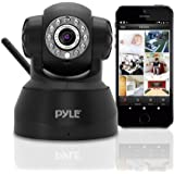 Indoor Wireless Security IP Camera - Home WiFi Remote Video Monitor w/ Motion Detection and Night Vision - PTZ Pan Tilt Network Surveillance, Voice Mic Audio for Mobile, Windows & Mac - Pyle PIPCAM5