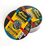 NOVOABRASIVE Premium Quality 10-Pcs Pack Set Of 115 x 1 x 22.2 mm Super Thin Cutting Discs – Ideal For Stainless Steel, Steel & Non-Ferrous Metals – Universal For Variety Of Angle Grinders