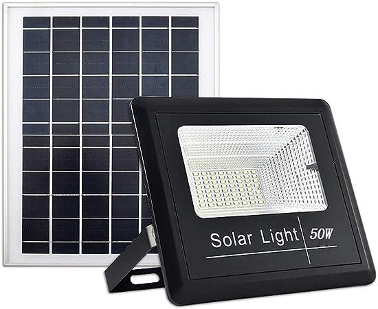 MITI LED Foco Solar Foco Solar Led Exterior Focos Exterior Seguridad Luz Solar Exterior para Jardín Patio Camino Escalera 50W: Amazon.es: Hogar
