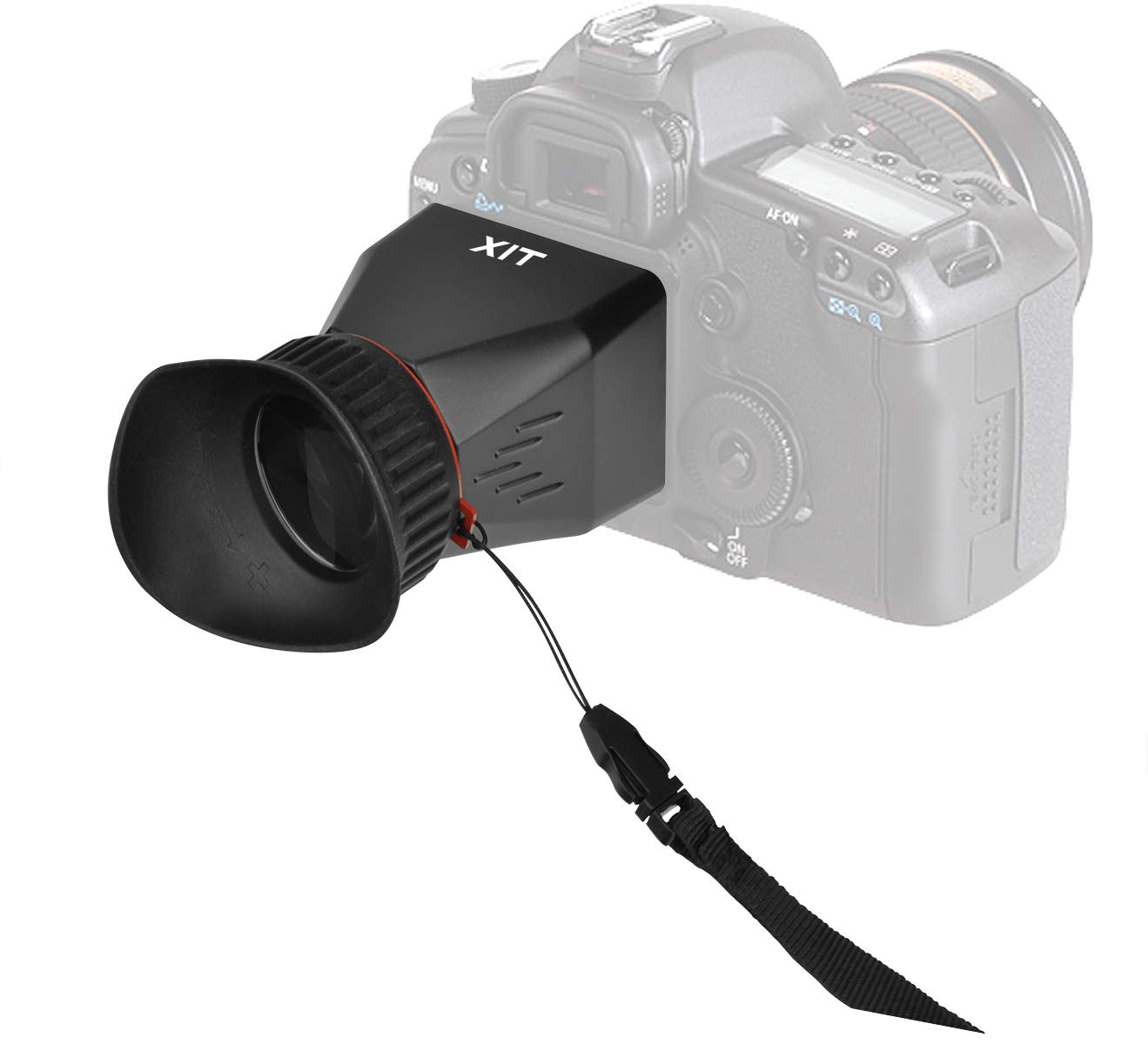 Xit XTLCDMVL Professional Locking LCD Viewfinder with 3.4X Magnification Black