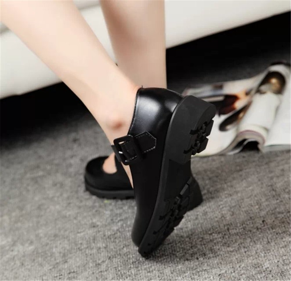 ACE SHOCK Women's Girl's Lolita Low Top Japanese Students Maid Uniform Dress Shoes (5.5, Black) by ACE SHOCK (Image #6)