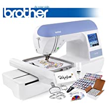Brother PE770 Embroidery Machine Includes 64 Embroidery Threads + Prewound Bobbins