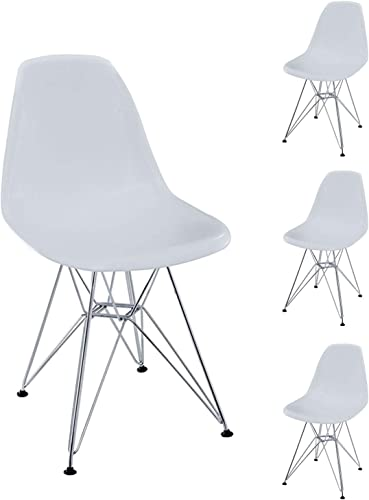 Mid-Century Modern Molded Plastic Dining Chair
