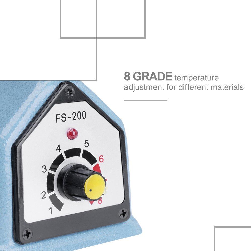 Metronic Impulse Bag Sealer Poly Bag Sealing Machine Heat Seal Closer with Repair Kit (8 inch) by Metronic (Image #7)
