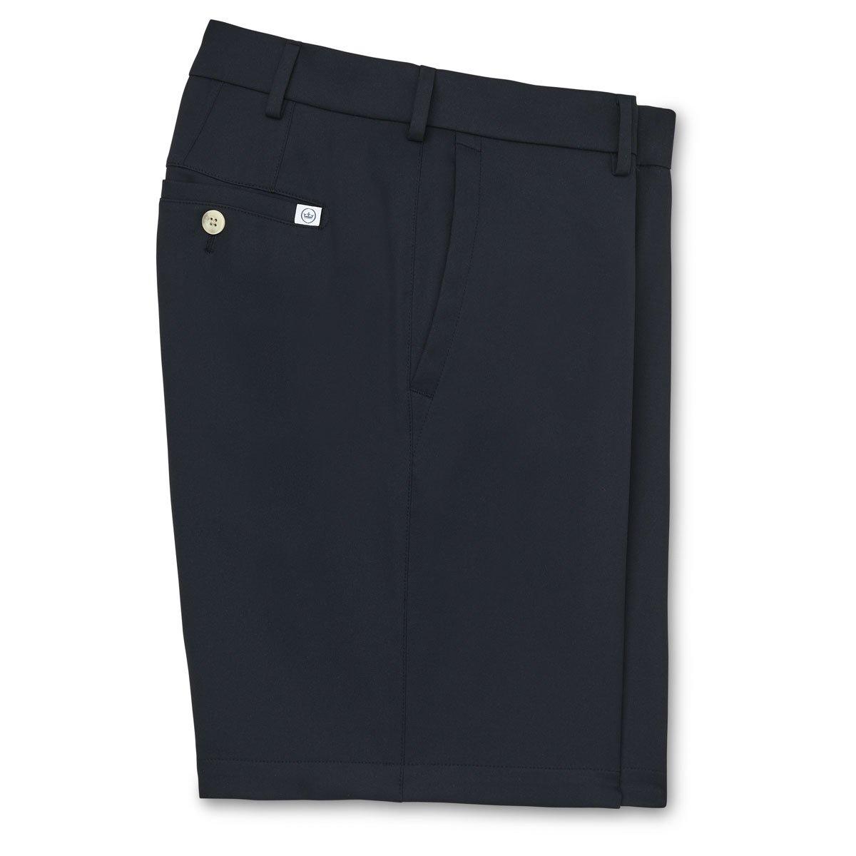 Men's Peter Millar Salem High Drape Performance Golf Short - Black - US SIZE 34
