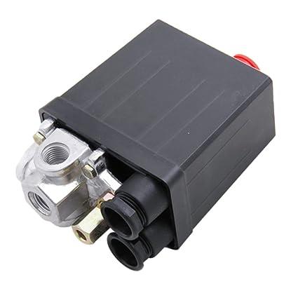 Interruptor de Compresor de Aire de Presión Válvula de Control para 90-120 PSI 240V
