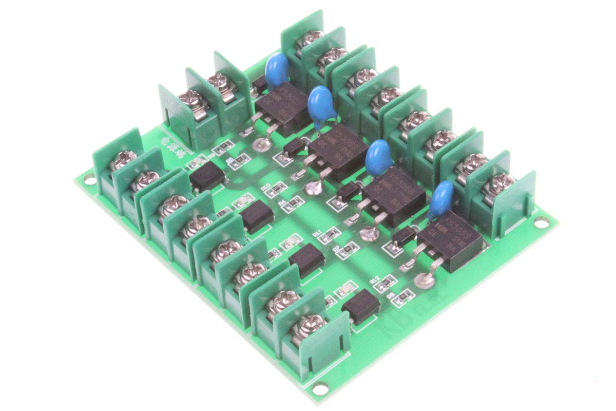NOYITO DC Control 4-Channel FET Module MOS Electronic Switch Control Board Output Controlled Voltage 5V-36V 5A Input Output Completely Isolated