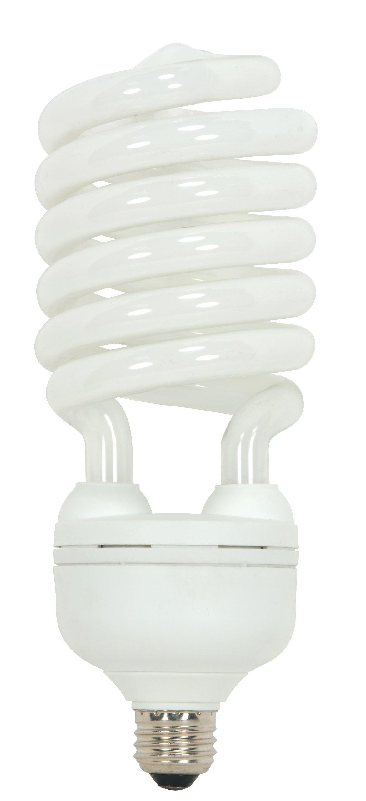 Satco S7385 65 Watt (300 Watt) 4300 Lumens Hi-Pro Spiral CFL Bright White 4100K Medium Base 120 Volt Light Bulb