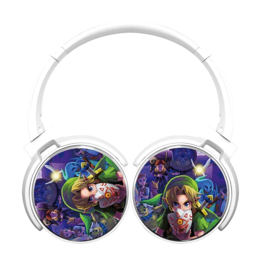 Zel-da Wireless Headphones Bluetooth Over Ear Headphones Noise-canceling Earphone-White