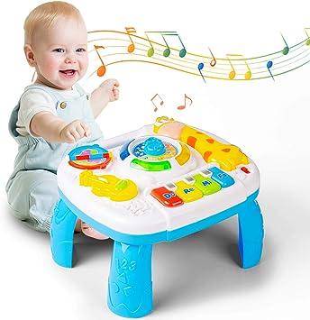 Yellcetoy Juguetes para bebés Mesa de Actividades Mesa de Aprendizaje Musical 6 Meses para niños Niños pequeños Juguetes para bebés para 1 2 3 años Los Mejores Regalos: Amazon.es: Juguetes y juegos