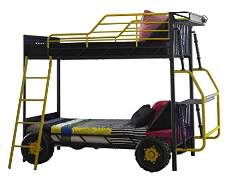 Amazon.com: Powell 904-138 Dune Buggy Bunk Bed, Twin: Kitchen & Dining