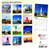 Lighthouses, Great Lakes 2018 12 x 12 Inch Monthly
