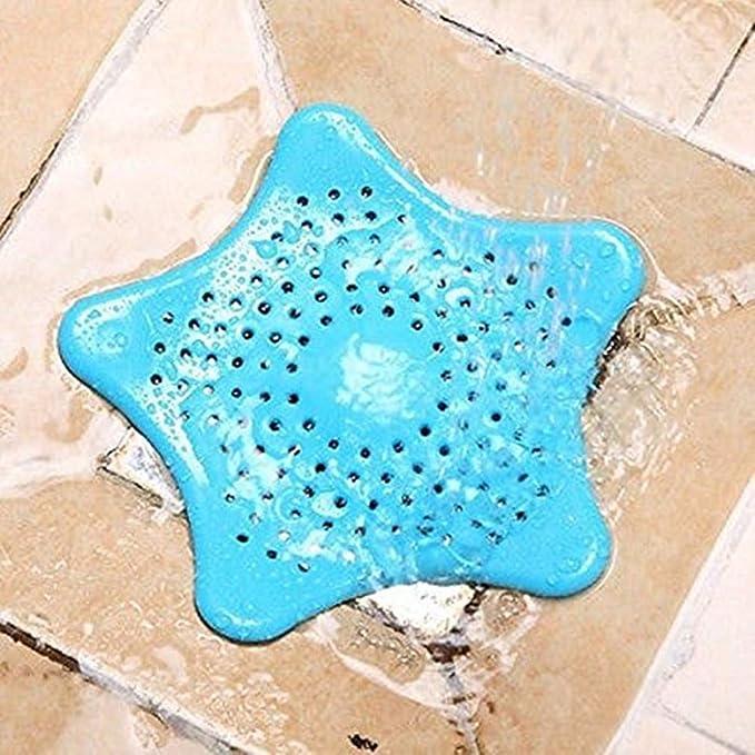 Liroyal Filtro de lavabo ba/ño antibloqueo de pl/ástico estrellas de mar cubierta de drenaje de piso