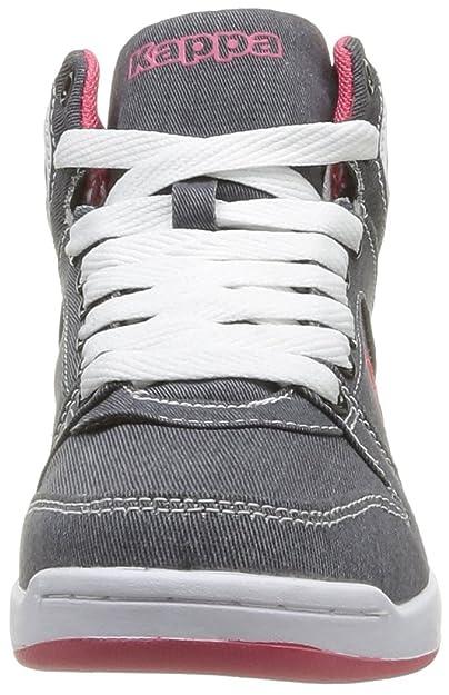 Kappa Udele, Baskets mode femme - Gris (Grey/Pink), 37 EU