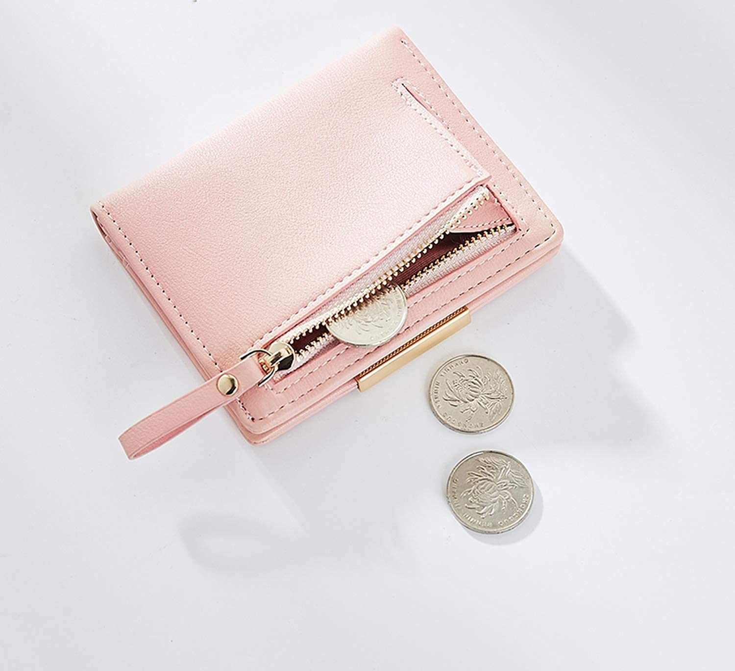 Women Small Wallet and Purses Solid Simple Ladies Short Wallets Lady Girls Coin Purses Credit Card Bag Carteira Carteras