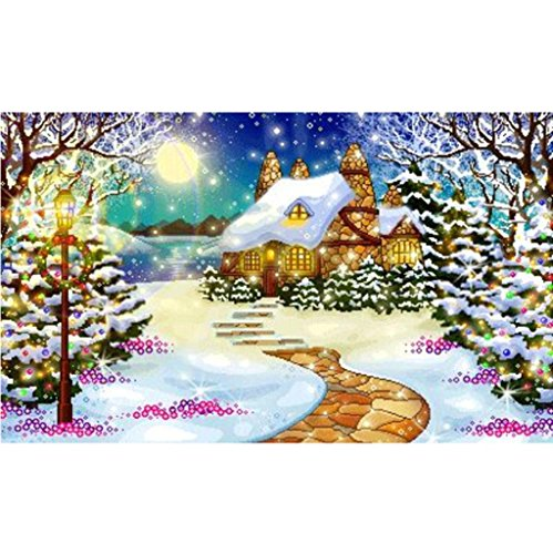 Elevin(TM)2018Christmas 5D DIY Rhinestone Diamond Embroid Painting Counted Paint By Number Kits Cross Stitch (G)