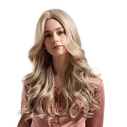 Perruque Blonde Femme Perruque Bouclée Perruque
