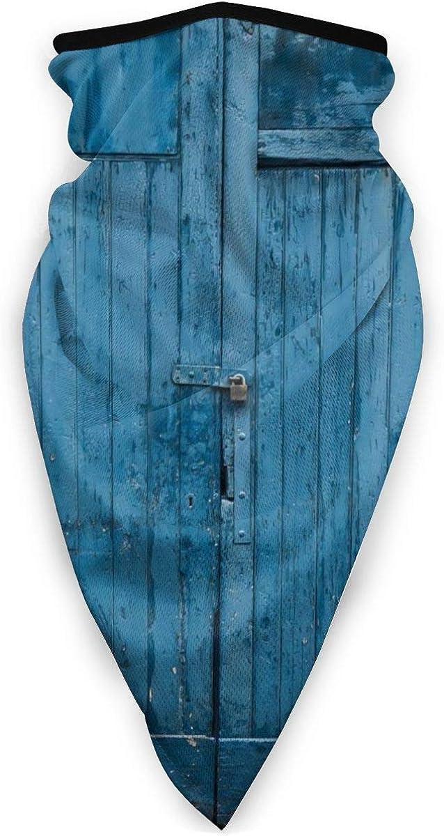 Lsjuee pañuelo a prueba de viento de puerta de granero de madera vieja lindo pañuelo transpirable reutilizable para exteriores mujeres hombres