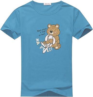 AJ fraser - Camiseta de manga corta - para niño Azul azul celeste: Amazon.es: Ropa y accesorios