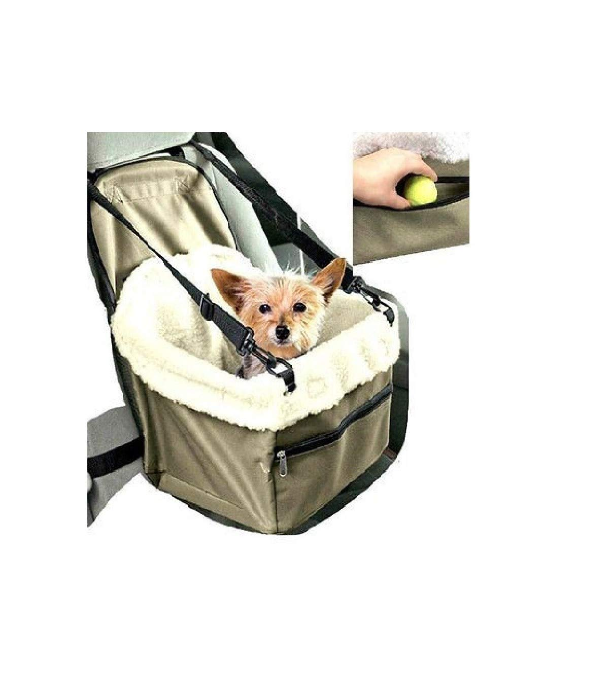 TradeShopTraesio - TRASPORTINO Sedile Cuccia per Auto Porta Cane Cani Gatto Animali Cesto Cintura TrAdE shop Traesio® 2334