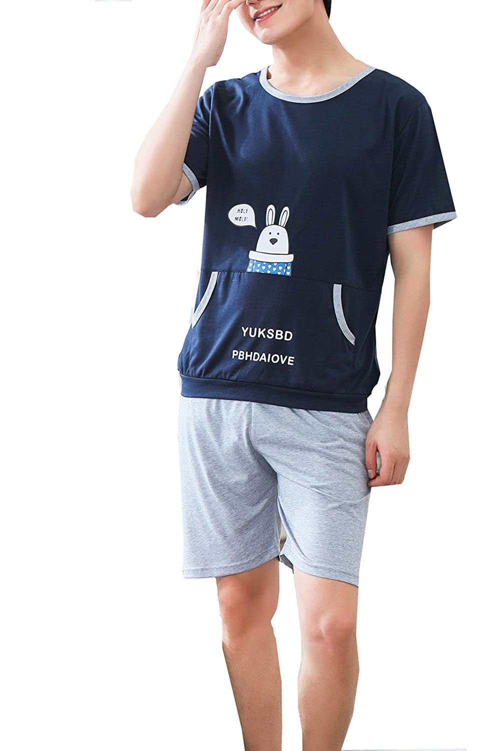 Leisure Home Big Boys Cute Soft Loose Summer Pajama Sleepwear 2Pieces 8y-14y