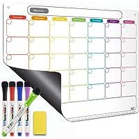 Dry Erase Calendar Kit- Magnetic Calendar for Refrigerator - Monthly Fridge Calendar Whiteboard with Extra-Thick Magnet…