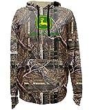 John Deere Men's Logo Camouflage Hooded Sweatshirt, X-Large, Camouflage
