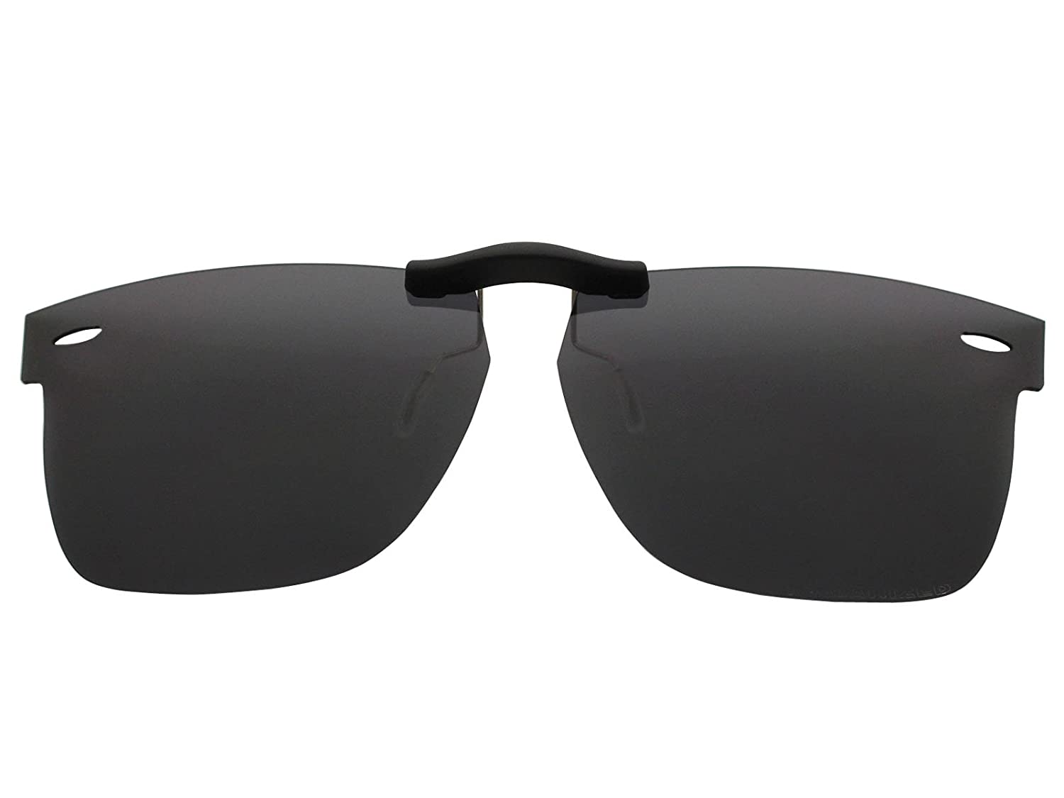 cf30073ee8 Custom Fit Polarized CLIP-ON Sunglasses For Ray-Ban RB5121 50X22 Black - -  Amazon.com