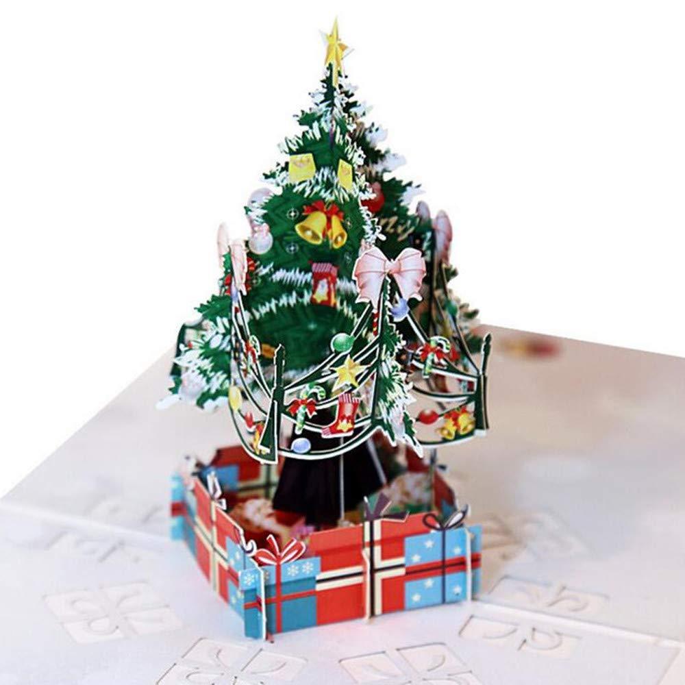 Diamond Cartoon Mini Papá Noel Feliz Navidad Papel Artesanía Postales WOZOW: Amazon.es: Juguetes y juegos