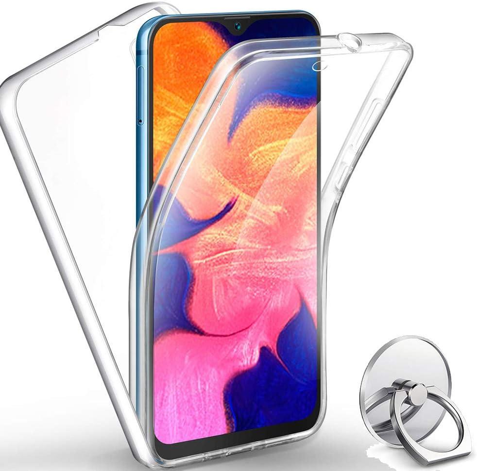SEEYA pour Samsung Galaxy A10 Coque Int/égral Silicone Transparente Gel Etui Avant et Arri/ére Housse 360 Degres Protection /écran Case Antichoc avec T/él/éphone Support Bague Anneau